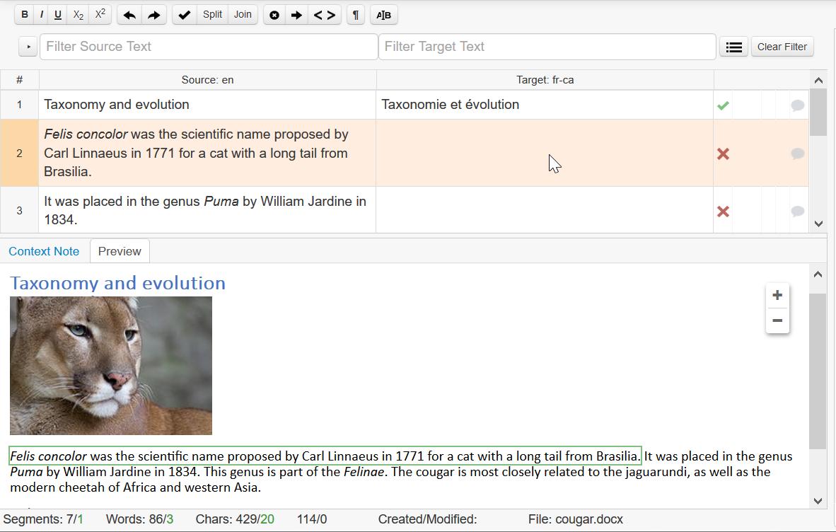 In-context Preview in Memsource Editor