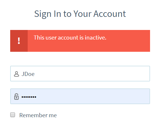 Inactive user